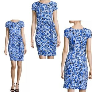 Leota Midi Madison Dress Geometric Stretchy 3L 3X